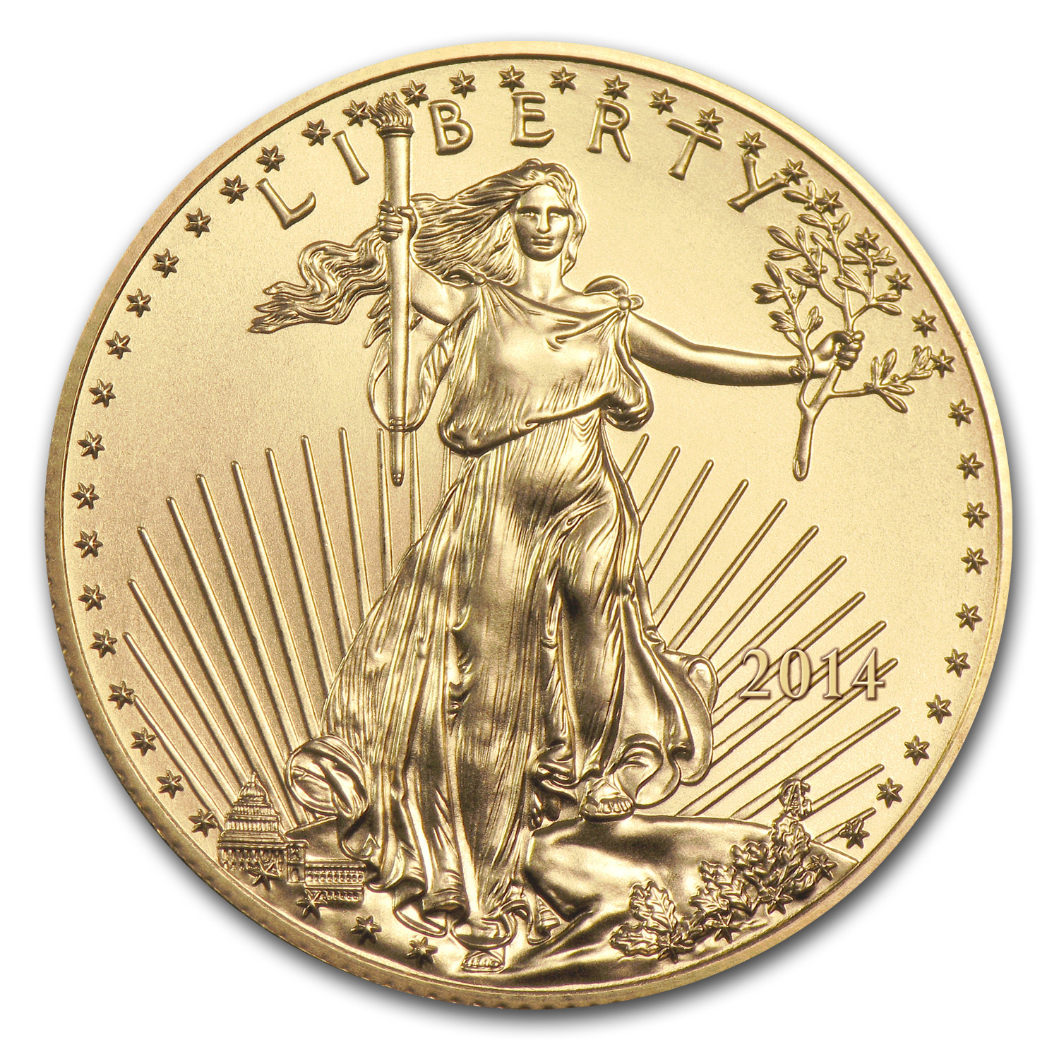 2014 1/10 oz Gold American Eagle (BU) (w/ U.S. Mint Box)